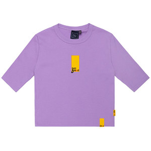GNAC ROLLING LOGO KNIT TEE_PURPLE