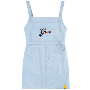 GNAC OVERALL COTTON DRESS_SKY BLUE