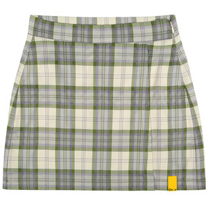 GNAC CHECK WRAP SKIRT_GREEN