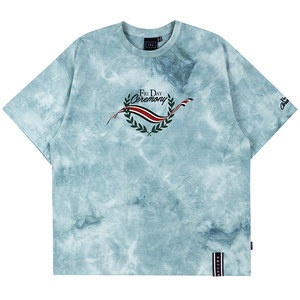 FRIDAY TIE DYE TEE_SKY BLUE