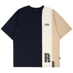 THREE BLOCK TEE_NAVY