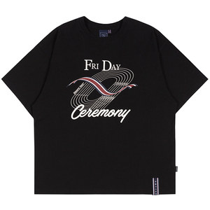 TRACK AND FIELD TEE_BLACK