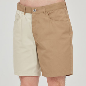 TONE ON TONE COTTON SHORTS_BEIGE
