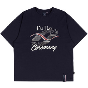 TRACK AND FIELD TEE_NAVY