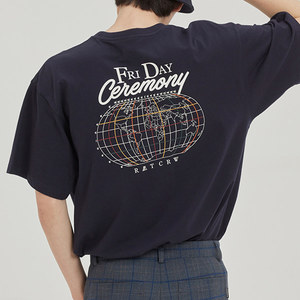 FRIDAY WORLD MAP TEE_NAVY