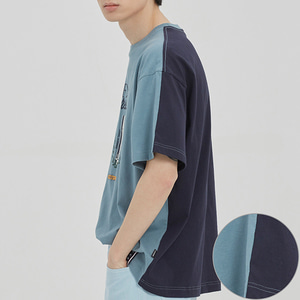 FRIDAY REVERSE TEE_LIGHT BLUE
