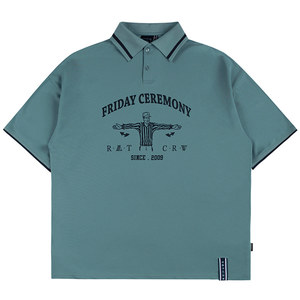 REFEREE HALF POLO SHIRT_LIGHT BLUE