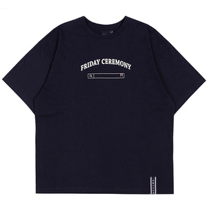 FRIDAY SEARCH BOX TEE_NAVY
