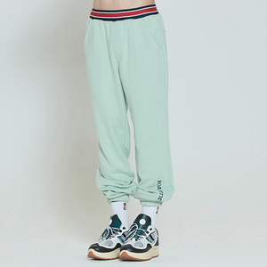 STRIPE BANDING JOGGER PANTS_LIGHT GREEN