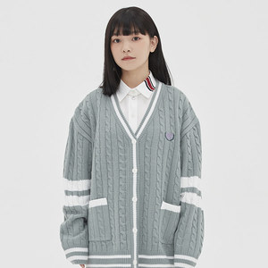 [TGT X RMTCRW]LINE CABLE CARDIGAN_MINT