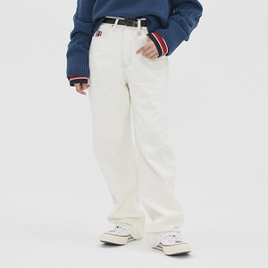 [TGT X RMTCRW]POINT STITCHES JEANS_CREAM