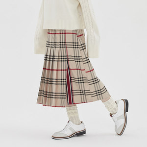 [TGT X RMTCRW]LONG PLEATS SKIRT_BROWN