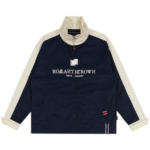 LOGO COTTON WINDBREAKER_NAVY