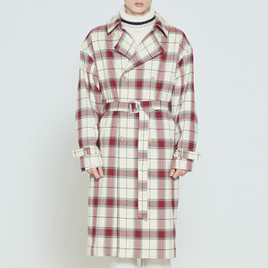 CROSS CHECK TRENCH COAT_OATMEAL