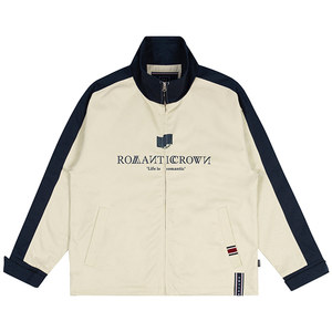 LOGO COTTON WINDBREAKER_OATMEAL
