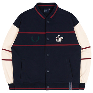 SUNDAY SYNDROME BASEBALL COTTON CARDIGAN_NAVY