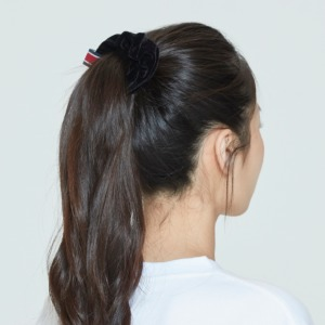 CEREMONY TAPE SCRUNCHIE_BLACK