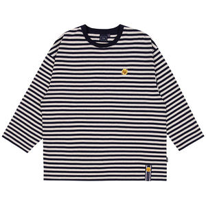 [CHUPA CHUPS X RMTCRW]STRIPED LONG SLEEVE_NAVY