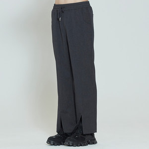PLACKET EASY SLACKS_CHARCOAL