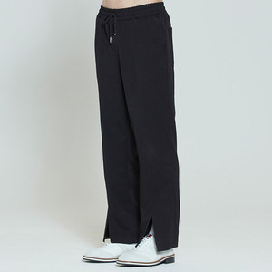 PLACKET EASY SLACKS_BLACK