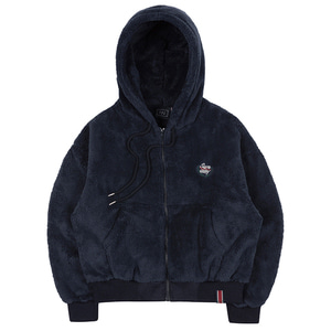 WOMANS FLEECE HOODIE ZIP UP_NAVY