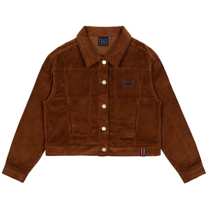 WOMANS CORDUROY BUTTON JACKET_BROWN