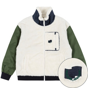 COLOR SCHEME FLEECE JACKET_KHAKI