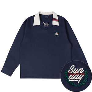 SUNDAY SYNDROME BOWLING SHIRT_NAVY