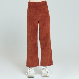 WOMANS CORDUROY BUTTON PANTS_BROWN