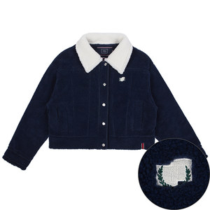 WOMANS WINTER SHERPA JACKET_NAVY