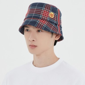 [CHUPA CHUPS X RMTCRW]CHECK BUCKET HAT_NAVY