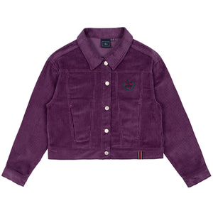 WOMANS CORDUROY BUTTON JACKET_PURPLE