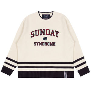 SUNDAY SYNDROME STUDENT KNITWEAR_OATMEAL