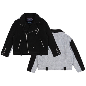 HEAVY FLEECE RIDER JACKET_BLACK