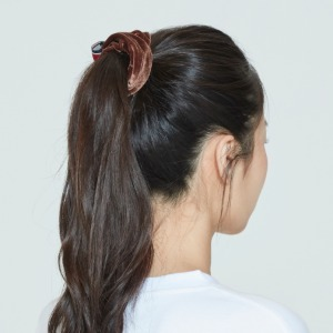 CEREMONY TAPE SCRUNCHIE_BROWN