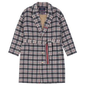 CLASSIC CHECK WOOL COAT_OATMEAL