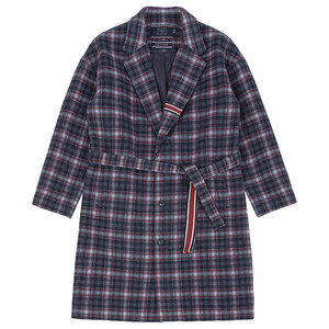 CLASSIC CHECK WOOL COAT_NAVY