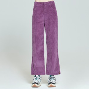 WOMANS CORDUROY BUTTON PANTS_PURPLE