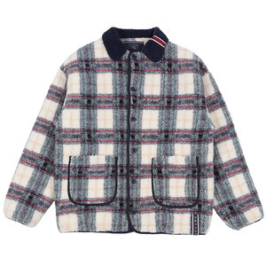CLASSIC CHECK FLEECE JACKET_OATMEAL