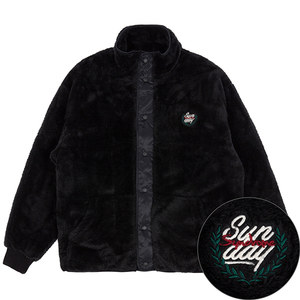 BACK POCKET FLEECE JACKET_BLACK
