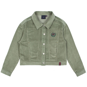 WOMANS CORDUROY BUTTON JACKET_LIGHT GREEN