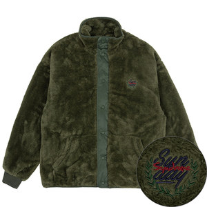 BACK POCKET FLEECE JACKET_KHAKI