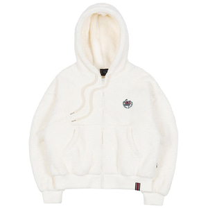 WOMANS FLEECE HOODIE ZIP UP_OATMEAL