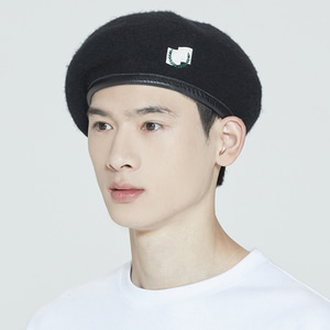 LAUREL LOGO BERET_BLACK