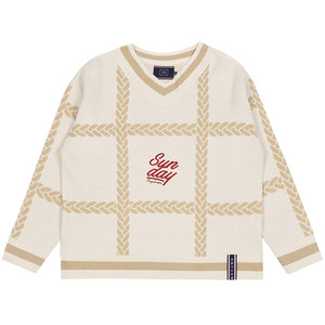 SUNDAY SYNDROME CHAIN KNITWEAR_OATMEAL