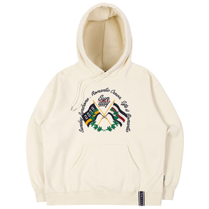 SUNDAY SYNDROME FLAG HOODIE_OATMEAL