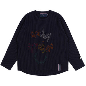 SUNDAY SYNDROME SCRIBBLE LOGO KNITWEAR_NAVY