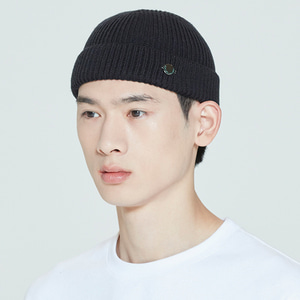 LAUREL LOGO WATCH CAP_BLACK