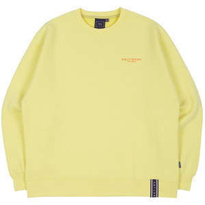 RMTCRW SLOGAN SWEAT SHIRT_LIGHT YELLOW