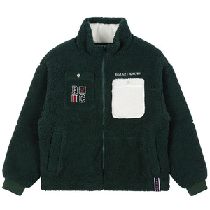 HEAVY FLEECE POCKET PARKA_GREEN